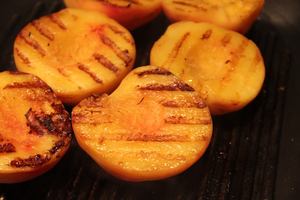 Grilled Peach Melba