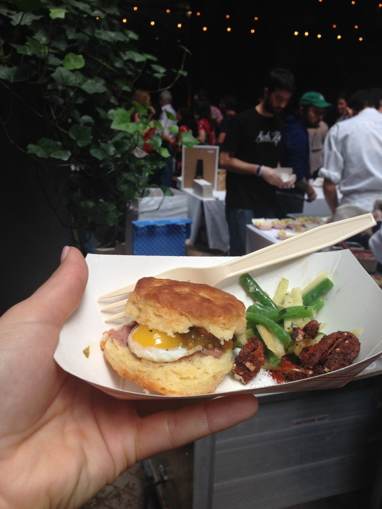 NYCWFF: Biscuit with Quail Egg