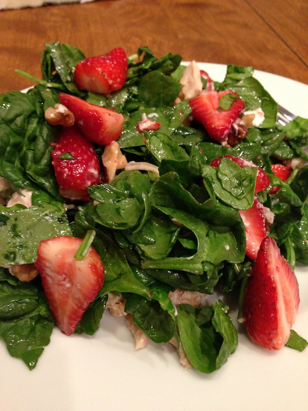 Spinach and Goat Cheese Salad | J'ai La Vie