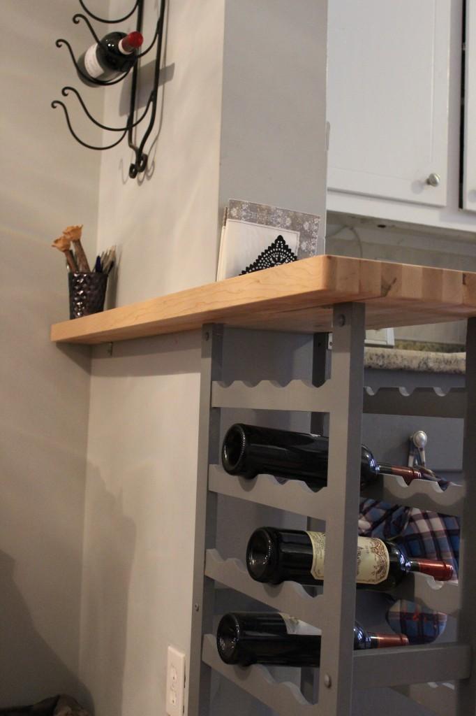 Custom Wine Rack for added counter space