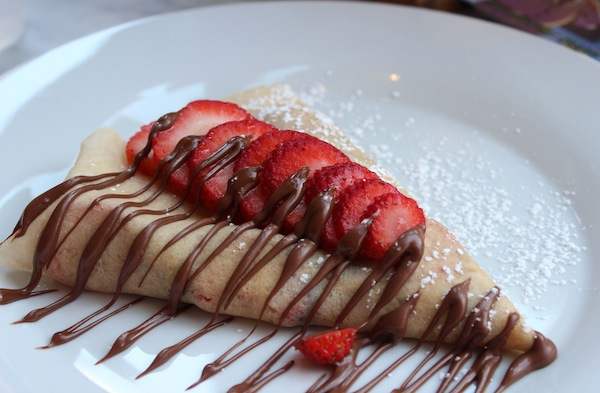 Strawberry & Nutella Crepe at Crespella