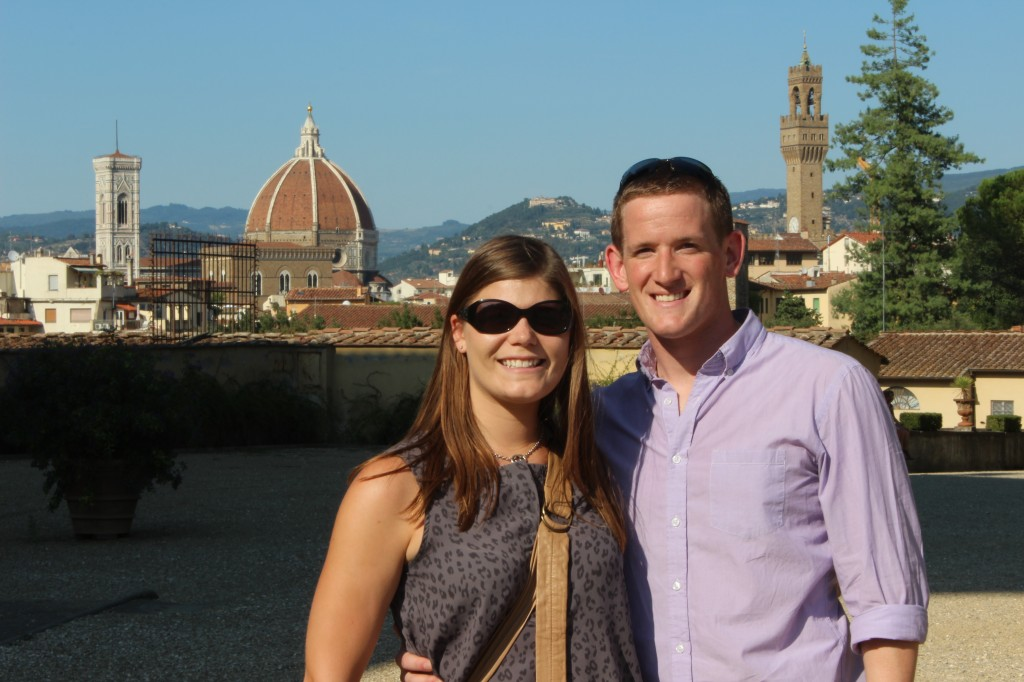 A view of Florence from the Boboli Gardens