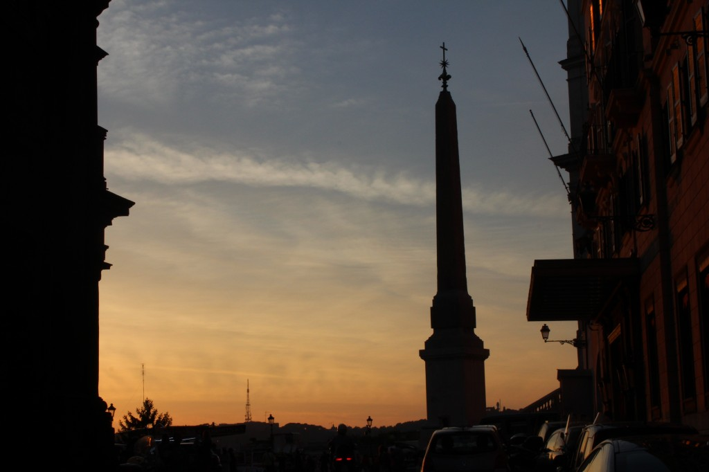 Top of the Spanish Steps at Sunset
