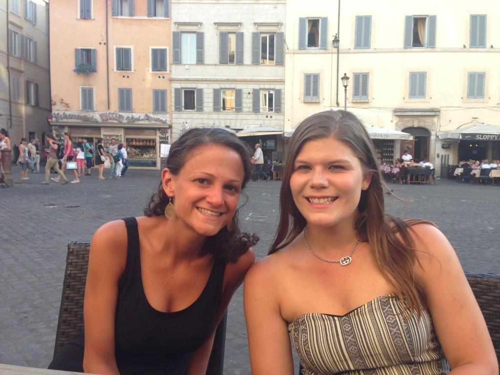 Friends in Piazza Navona!