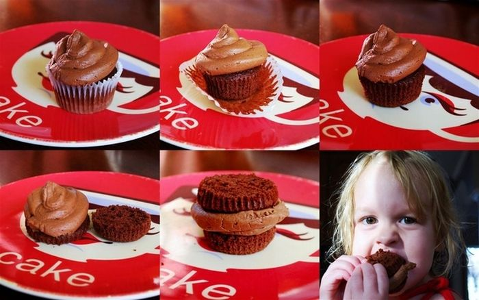 How to eat a cupcake.