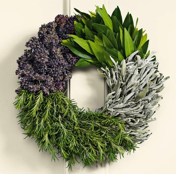 Herb Wreath - a decorative and edible gift