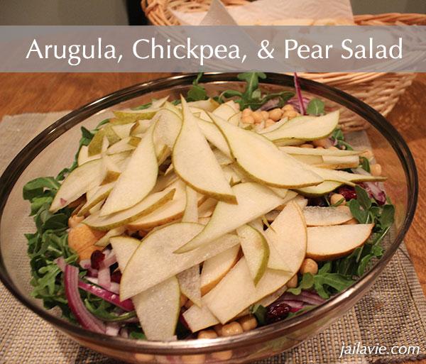 Arugula, Chickpea, & Pear Salad | J'ai la vie