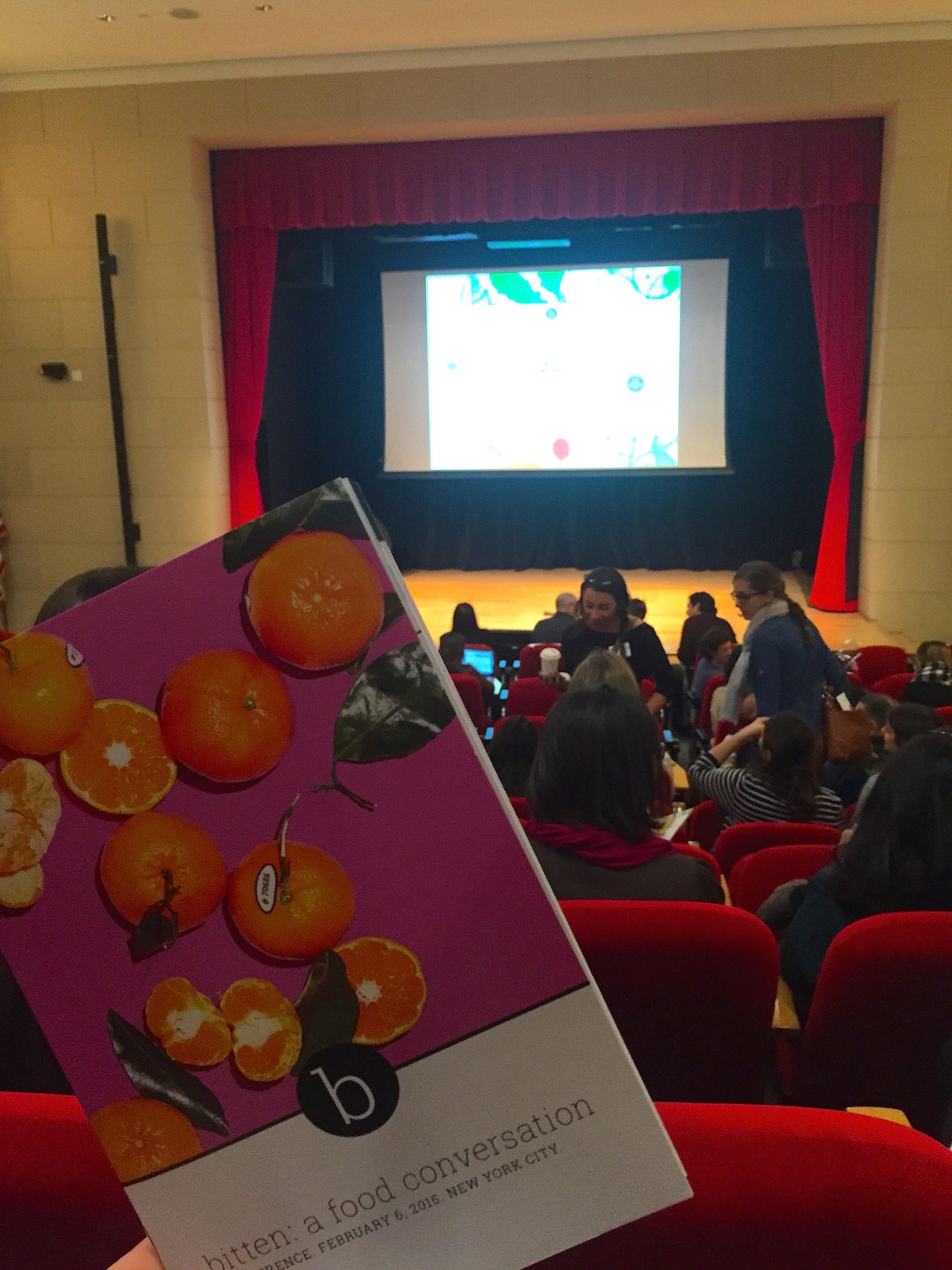 bitten: a food conversation, at Scholastic Auditorium, Feb. 6, 2015