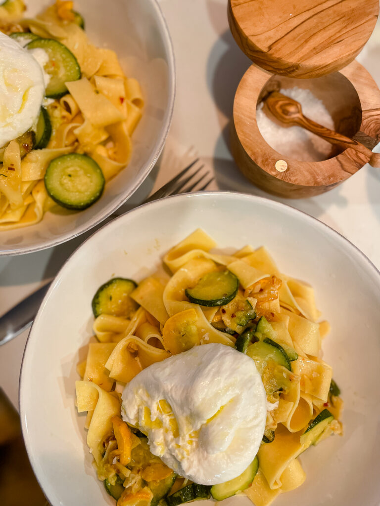 Pappardelle with Zucchini and Burrata